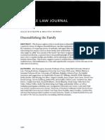Disestablishing the Family