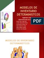 Modelos de Inventario Deterministcos