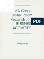 JMA Group Boiler Room Reconstruction - BUSINESS ACTIVITIES