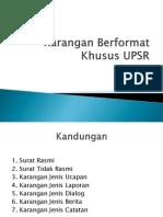 Karangan Berformat Khusus UPSR