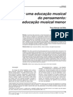 Por Uma Educacao Musical Do Pensamento Educacao Musical Menor