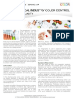 The Color of Quality - Color Control and Measurement in Pharmaceutical Industry