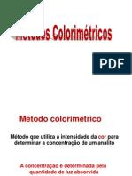 Colorimetria e Espectrofotometria 2012