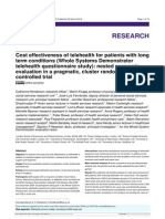 [2013] Cost Effectiveness of Telehealth for Patients With Long Term Conditions