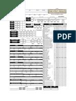 Ficha D&D 3.5  Bardo