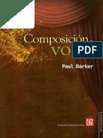 Barker - Composición vocal