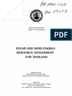 Solar and Wind Assessment in Thailand