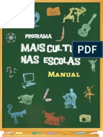 Manual Programa Mais Cultura Nas Escolas