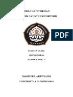 Peran Auditor Dan Penyidik Akuntansi Forensik