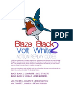 Action Replay Codes