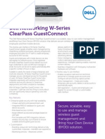 Dell Networking W Series ClearPass GuestConnect Spec Sheet NEM Technology