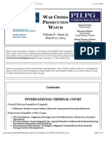 War Crimes Prosecution Watch, Vol. 8, Issue 25 -- March 10, 2014