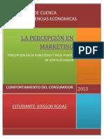 Percepcion Publicidad y Punto de Venta Ecuador