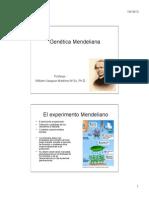Curso Genetica Parte I y II Mnedel 2013 C