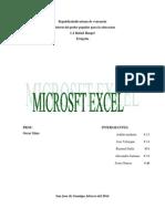 Microsoft Excel Acomodar