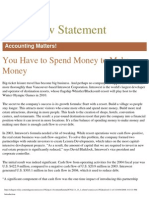 cash flow statement theory