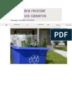 Guía para reciclar desechos caseros