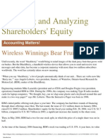 11-Reporting and Analyzing Shareholders Equitiy