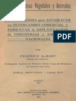 Materias Primas Vegetales y Animales. 1924