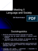 Meeting 2 Sociolinguistics