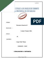 1ra Unidad Matematica Financiera II Tarea Wilman