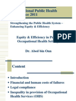 Prof Abed Onn-Equity and Efficiency in Private Occupational Health Settings