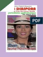 La Diaspora Latino Digital Magazine. Periodismo Gastronomico Feb Marzo 2014