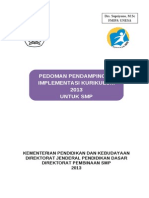 Pedoman Pendampingan Implementasi Kur 2013 Smp-1