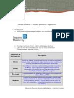 La Empresa, Planeacion y Organizacion