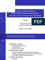 Computer-Aided Design for Micro-Electro-Mechanical Systems
