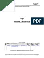 Equipment Commissioning Procedure