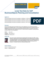 How to... Generate Test Data for SAP BusinessObjects Planning and Consolidation 10.0