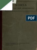 Korea Treaties Agreements