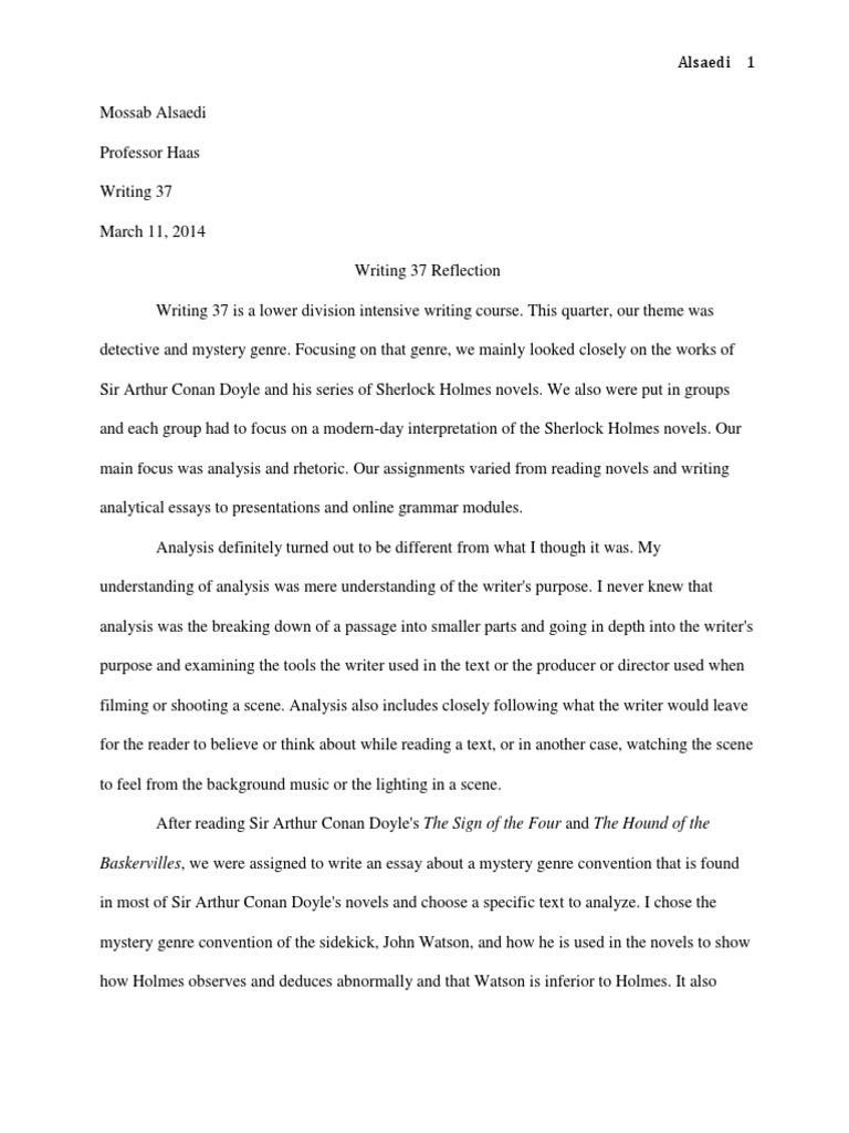 Topic For English Essay  Synthesis Essay Ideas also Essays On Health Reflection Essay Nd  Dr Watson  The Hound Of The Baskervilles Essays On English Literature