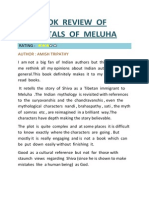 Book Review of Immortals of Meluha