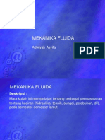 Mekanika Fluida -1- Pendahuluan, Sifat2 Zat Cair
