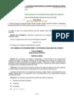 Ley general auxiliar de  actividades auxiñiares de credito febrero 2014