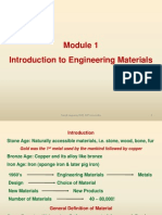 Module 1, Intro to Engg Materials
