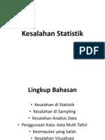 Kesalahan Statistik