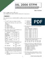 Actual 2006 STPM Chemistry