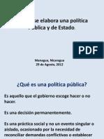 ¿Cómo elaborar un política pública y de Estado
