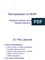 Lecture on database Normalisation