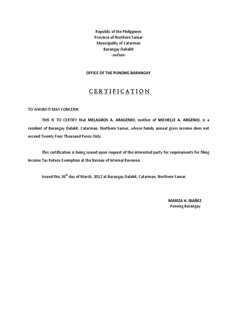 Barangay Certificate Philippines Image Gallery Hcpr