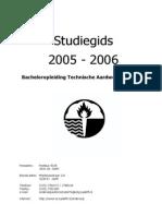 BSc Technische Aardwetenschappen Studiegids TU Delft 2005-2006