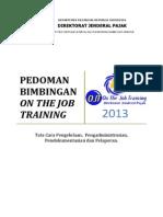 Pedoman Pembimbingan OJT Pegawai Baru 2013