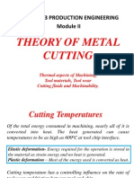 Theory of metal cutting - Module II