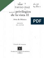 los privilegios de la vista II arte de méxico- Octavio Paz