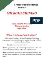 Micro Machining-module 3
