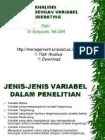 Analisis Regresi Dengan Variabel Moderating Dan Intervening 20091