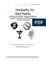 Homeopathy for Bad Habits